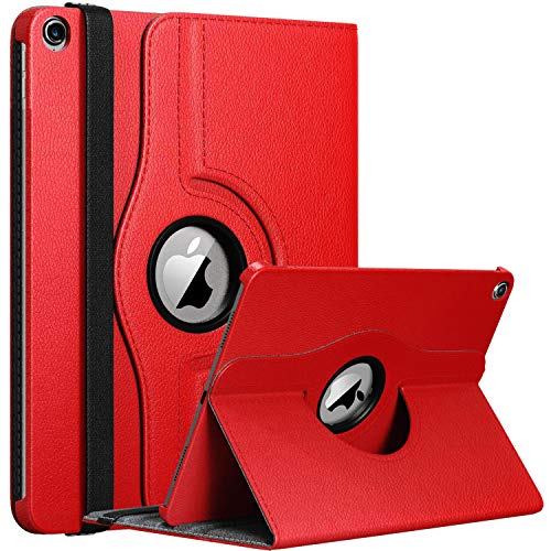 GADGET ARMOUR Apple iPad 10.2 Inch Case 7th/ 8th Generation 2019/2020 iPad 7/ iPad 8, Rotating Smart Cover For iPad 10.2 7th Gen, 8th Gen 2019/20 with Auto Wake and Sleep (RED)