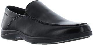 حذاء رجالي من Giorgio بروتيني Abrams أسود سهل الارتداء، حذاء Moc Toe بدون كعب