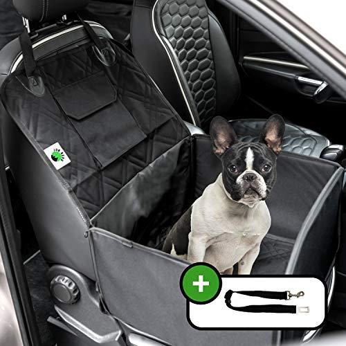 Jon Berg Extra Stabiler Hunde Autositz - Hundesitz für kleine und mittlere Hunde mit Leine - wasserdichter Hundeautositz für Rück- und Vordersitz