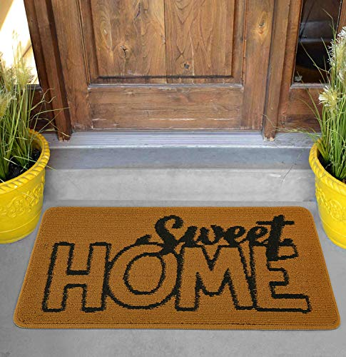 "Viminston Felpudo de Entrada Alfombra Exterior para Puerta, Impermeable, Lavable para Atrapar Suciedad Alfombras para Puerta de Entrada, Cocina, Piso, hogar y Oficina (Sweet Home, 17"" x 30"")"