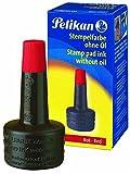 Pelikan 351221 - Tinta de sello 4K sin ACeite, 28 ml, adecuado para todos los sellos de oficina, rojo