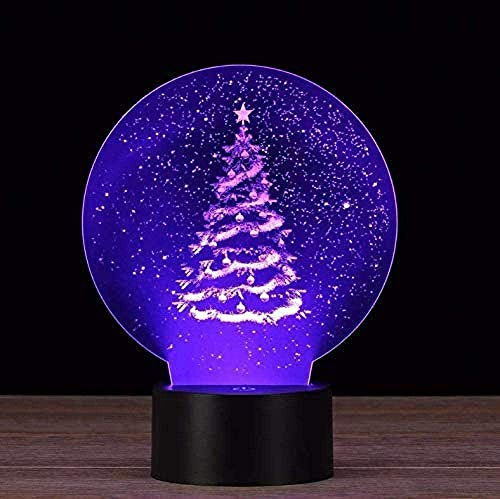 Christmas Tree 3D Led Night Light Remote Touch 7 Colors Change Table Desk Lamp for Children s GiftsIndoor