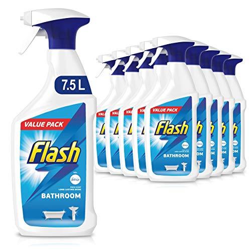 Flash Bathroom Cleaner Spray, Long Lasting Shine, Fresh, 7.5 Litres (750 ml...