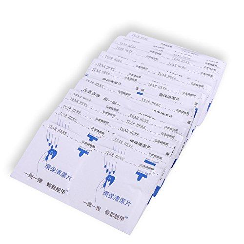 100 Toallitas para Preparación y Acabado de la Manicura de Gel, Limpiador de Esmalte y Residuos Pegajosos para Uñas de GEL LED UV, Limpia la Base de la Uña Antes de la Manicura o Pedicura