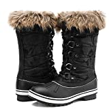 ALEADER Winter Boots for Women, Waterproof Snow Boots Shoes Black 11 B(M) US