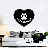 Tianpengyuanshuai Símbolo de Amor amigable con Las Mascotas Etiqueta Adhesiva de Vinilo Letras Adhesivas Mural Tienda de Mascotas decoración de la casa 42X48 cm