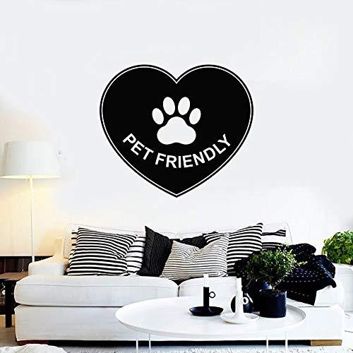 Tianpengyuanshuai huisdiervriendelijk liefdessymbool pootafdruk vinyl sticker opschrift muurschildering dierenhandel huisdecoratie
