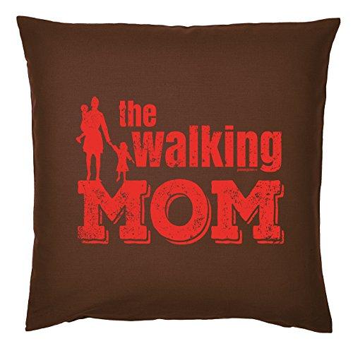 Art & Détail T-shirt Coussin : Maman Mom Fête des Mères – The Walking Mom – Comme Présent
