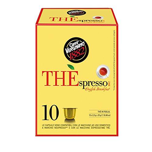 Caffè Vergnano 1882 THÈspresso Capsule Tè Compatibili Nespresso, English Breakfast - 6 confezioni da 10 capsule (totale 60)