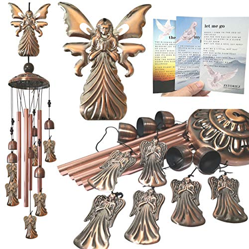 Memorial Wind Chimes for Loss of Loved One Prime, Angel Wind Chimes Memorial Angel Chimes, Angel Wind Chimes Outdoor Gifts, Bereavement Sympathy Windchimes in Memory for Death of Father, Mother