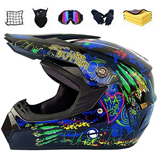NKFDLY Casque de Moto pour Enfant Motocross Off-Road Casque VTT BMX Downhill,Cadeau pour...