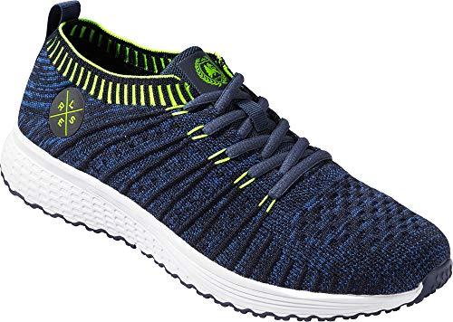 LERROS Herren Sneakers, leichte und Bequeme Laufschuhe für Männer, ohne Schnürsenkel, besonders Dehnbare Passform, für Sport & Freizeit, Gr. 40-46