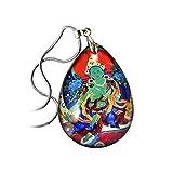 Amulett Halskette Nepal Tibetisch Grün Tara Sodaji Khenpo Kristall Thangka Anhänger Männer Und Frauen Anhänger,A