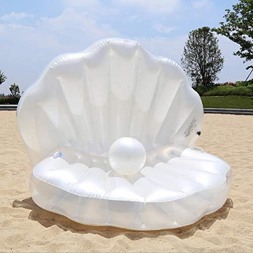 Svvsgf aufblasbare Liege, aufblasbare Muschel schwimmende Reihe PVC Wassersofa Perle schwimmende Betthalterung