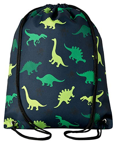 Aminata BALANCE Turnbeutel Dino-Motiv Dinosaurier Kinder Mädchen Junge Kindergarten - Nylon