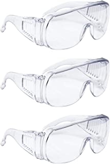 Perfk 3pcs Cycling Goggles Fishing Hiking Glasses Protective Eyewear,Clear Frame