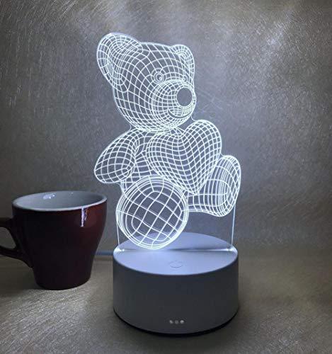 veilleuse enfant Prise stéréo 3D simple château cadeau-Little bear Lampe de Nuit Chevet Veilleuse Lampe de chevet