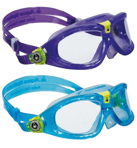 Aqua Sphere Kids Seal 2 Pack Swim Goggles, Violet + Aqua