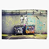 Street Skip Graffiti Pop Rubbish Paint from Mural Peeing Naked Culture Stencil Dumpster Art Spray Boys Home Decor Wall Art Print Poster 2
