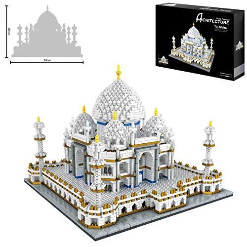 SKAJOWID Bloques De Construcción para Niños, Taj Mahal World Famous Landmark Kits De Bloques De Construcción Kits De Construcción para Niños Regalos Educativos De Juguetes De Bricolaje(3950 Pcs)