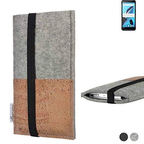 flat.design Handy Hülle Sintra für Energizer Hardcase H570S Handytasche Filz Tasche Schutz Kartenfach Hülle Kork
