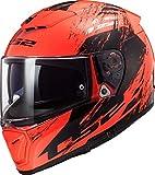 LS2 Casco Moto FF390 Breaker SWAT Fluo Arancione Nero, Nero/Arancione, XL