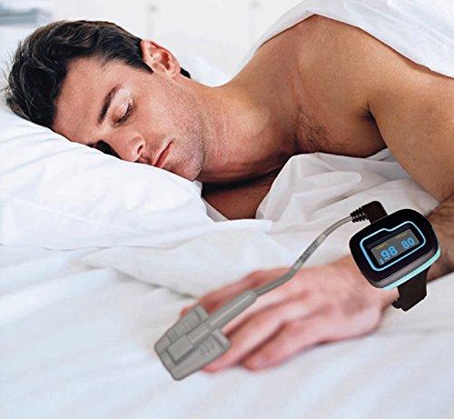ChoiceMed Monitor de sueño/muñeca oxímetro de pulso para toda la noche vigilancia (modelo MD300W512 aprobado por la FDA y CE marcado) por Home Care Wholesale ✅