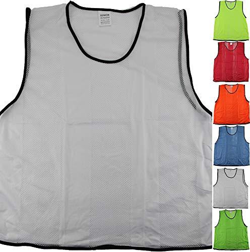 Leibchen für Erwachsene, Größe: XL, Farbe: weiß - für Fussball Herren Damen Sport Handball