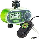 Royal Gardineer Feuchtigkeitssensor: Set aus Bewässerungscomputer und Regen & Boden-Feuchtigkeitsmesser (Digitaler Bewässerungscomputer)