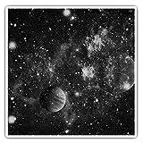 Impresionantes pegatinas cuadradas (juego de 2) 10 cm BW – Space Planets Solar System, calcomanías divertidas para portátiles, tabletas, equipaje, reserva de chatarras, neveras, regalo fresco #35559