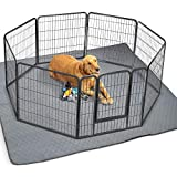 ZICOTO Waterproof XXL Puppy Whelping Pad 72'x72' - Our Washable Super Absorption Pee Pad is Perfect for Your Exercise Playpen Or Whelping Box - The Durable Non Slip Floor Mat for Dogs