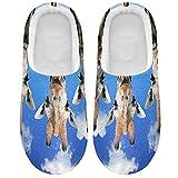 Linomo Lindas zapatillas de cara de jirafa de animales para mujeres, zapatillas de casa para mujer, zapatos de interior, multicolor, 39/40 EU