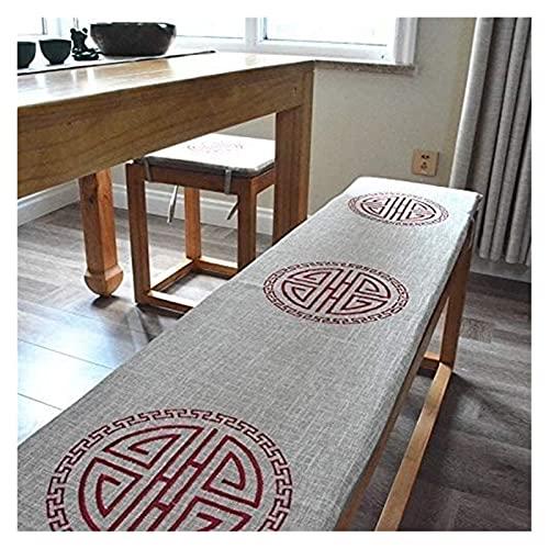 Coussins de chaise Cinese Lino Swing panchina ammortizzatore della sedia, di slittamento non ricamo sedia pad con la fascia elastica pieghevole lavabile sede sofà cuscino del sedile portatile Pad 2/3