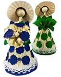 Corn Husk Doll Decorative Doll 2 Pack Handcrafted Dolls Mexican Ornament Crafts Decoration Beautiful Stand