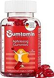 Gumtamin Multivitamin Apfelessig Gummies Zuckerfrei - Hochdosiert 1000mg Apple Cider Vinegar und 7 Vitamine für Kinder und Erwachsene- 60 vegane Gummies - Alternative zu Tabletten und Kapseln
