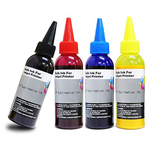 Seogol 400ml Sublimation Ink for Epson Inkjet Printers C88+ C88 WF7710 WF7720 ET2720 ET2760 ET15000 ET4700 ET4760 WF7210 Heat Press Transfer on Mugs, Pillow, Plates, Polyester Shirts, Phone Cases etc