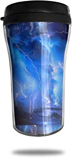FTRGRAFE Lightning Wallpaper HD Travel Coffee Mug 3D Printed Portable Vacuum Cup,Insulated Tea Cup Water Bottle Tumblers for Drinking with Lid 8.54 Oz (250 Ml)
