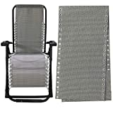 IKEPAHOK Gravity Chair Replacement Fabric, Zero Gravity Lounge Chair Recliners Repair Tool Cloth Part for Outdoor Patio Yard Beach Pool Lawn Camping Reclining Mesh Canvas for Anti-Gravity Chair