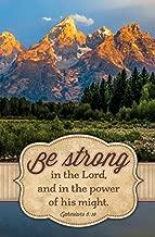 Warner Press Bulletin-Be Strong in The Lord (Ephesians 6:10 KJV) (Pack of 100)