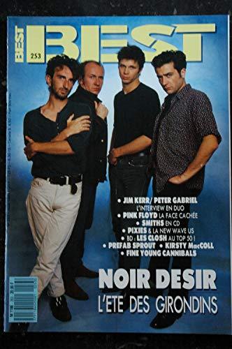 BEST 253 AOUT 1989 NOIR DESIR Jim Kerr Peter Gabriel Pink Floyd Smiths Pixies Les Closh Prefab Sprout K McColl F Y Cannibals