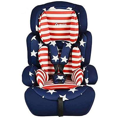 MVDWWH Seguro y cómodo Asiento de Seguridad para bebés, Asiento de Seguridad para bebé, Asiento de Seguridad para bebé, 9 Meses, 12 años Una Cuna cómoda para el bebé. (Color : Blue)