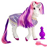 Breyer Horses Color Changing Bath Toy | Luna The Unicorn | Purple / Pink / White with Surprise Blue Color | 8.5' x 7' | Unicorn Toy | Ages 3+ | Model #7233, Purple, White, Pink