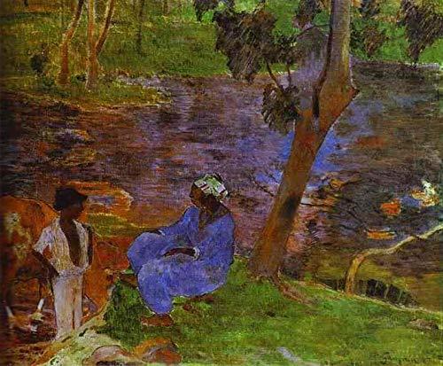 Singing Palette 7 berühmte Gemälde auf Leinwand von akademischen Malern - 40€-1500€ Handgefertigte Ölgemälde - at Pond Post-Impressionismus Primitivism Paul Gauguin - Kunst Bilder -Maße07