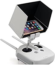 iKNOWTECH Transmitter Controller Sun Hood, FPV Monitor Sunshade for DJI Phantom 2 3 4 Inspire 1 Quick Release iPhone SE 5S 6 6S 7 Plus Samsung S5 S6 S7 Edge S8 Holder Clip Mount (3.5~5.5-Inch)