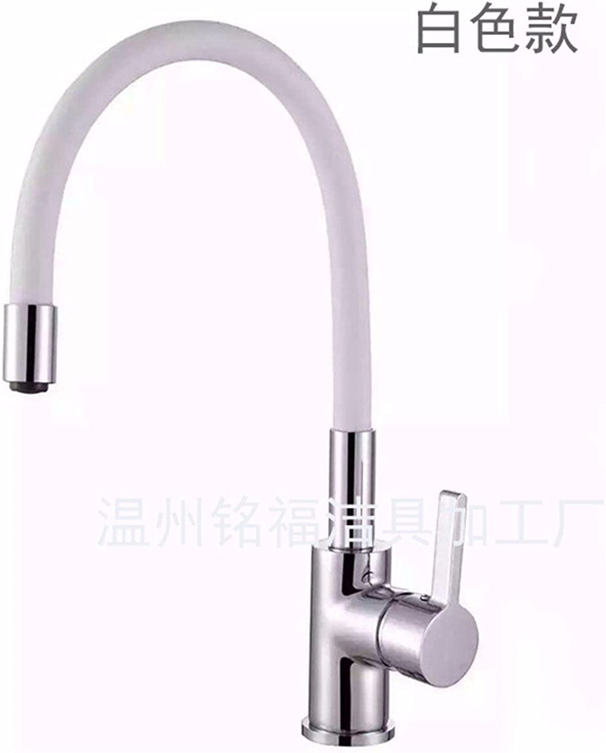 Hlluya Professional Sink Mixer Tap Kitchen Faucet Modern retro stainless steel white brass waterfall bathroom basin faucet kitchen to bend
