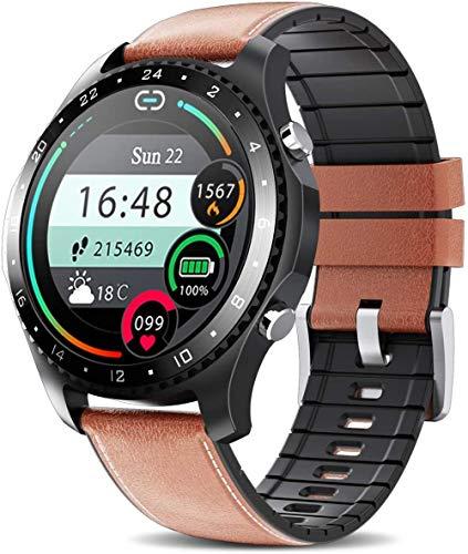 Reloj inteligente con monitor de actividad de seguimiento de frecuencia cardíaca reloj inteligente con pantalla táctil de 1.54 pulgadas IP67 impermeab...