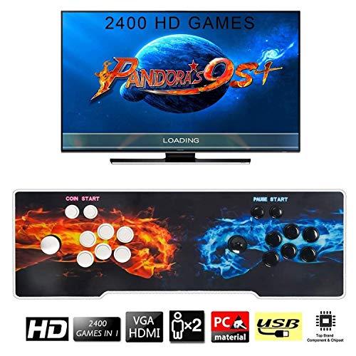 Tinder [2400 Juegos clásicos] Consola de Videojuegos, Arcade Machine 2400 Juegos clásicos, 2 Jugadores Pandora's Box 9s 1280x720 Full HD,2 Joystick Partes