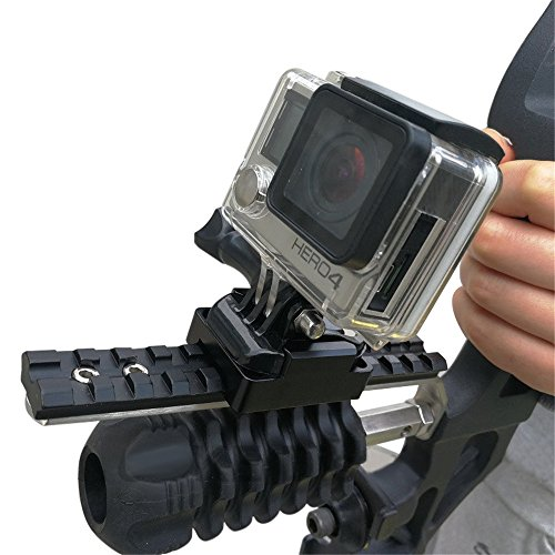 Camera & Smartphone Combo Bow Mount for Gopro Hero POV Sports Cameras/Sony Action Cam/Video DV/Camcoders and Cell Phone - Mount On Archery Bow Stabilizer- Recording Your Hunt Now