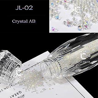 ICYCHEER AB Color BlingBling Nail Glitter AB Crystal Glass Micro Nail Art Dazzling Kaviaar Kralen 3D Pixie Zeemeermin Nail...