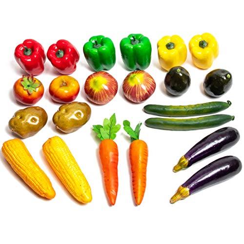 Juvale Artificial Vegetables, Faux Vegetable Decor (22 Pieces)